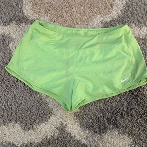 Nike Lime Green Dri-Fit Running Shorts - Large